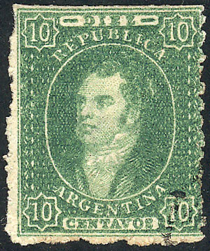 Lot 25 - Argentina rivadavias -  Guillermo Jalil - Philatino Auction # 2049 ARGENTINA: