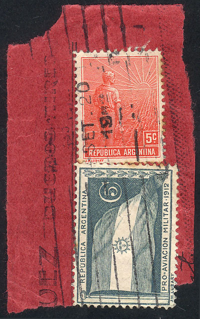 Lot 898 - Argentina postal history -  Guillermo Jalil - Philatino Auction # 2049 ARGENTINA: