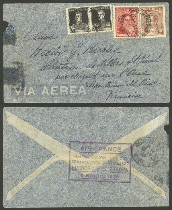 Lot 921 - Argentina postal history -  Guillermo Jalil - Philatino Auction # 2049 ARGENTINA: