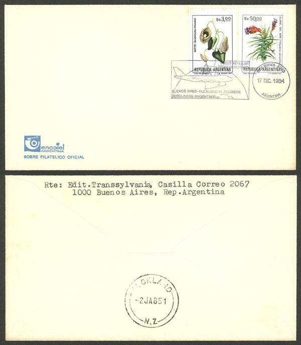 Lot 972 - Argentina postal history -  Guillermo Jalil - Philatino Auction # 2049 ARGENTINA: