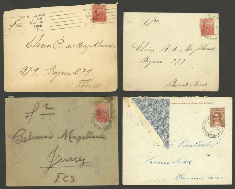 Lot 897 - Argentina postal history -  Guillermo Jalil - Philatino Auction # 2049 ARGENTINA: