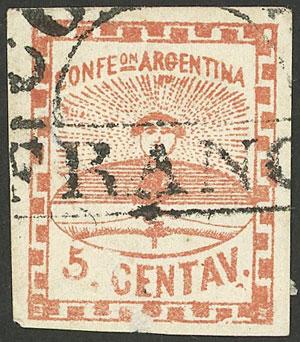 Lot 12 - Argentina confederation -  Guillermo Jalil - Philatino Auction # 2049 ARGENTINA: