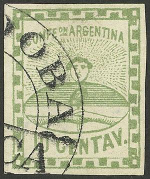 Lot 13 - Argentina confederation -  Guillermo Jalil - Philatino Auction # 2049 ARGENTINA: