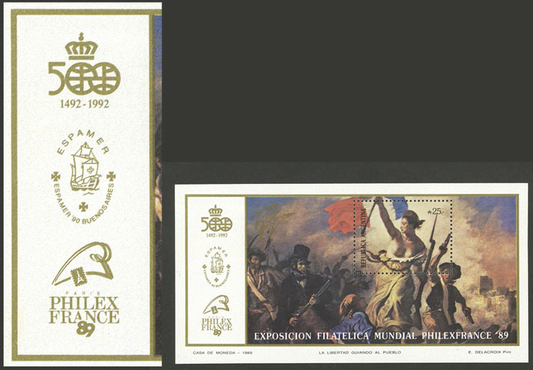 Lot 781 - Argentina souvenir sheets -  Guillermo Jalil - Philatino Auction # 2049 ARGENTINA:
