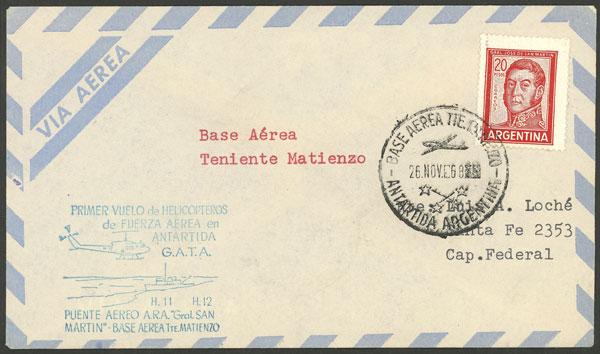 Lot 3 - argentine antarctica postal history -  Guillermo Jalil - Philatino Auction # 2049 ARGENTINA: