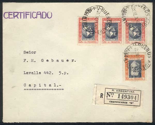 Lot 429 - Argentina general issues -  Guillermo Jalil - Philatino Auction # 2049 ARGENTINA: