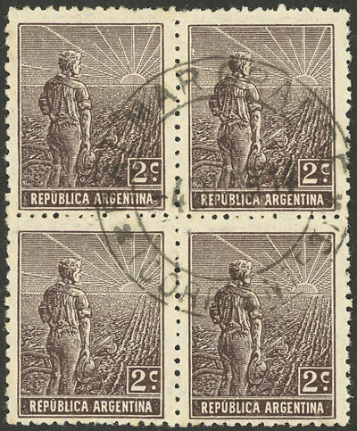 Lot 242 - Argentina general issues -  Guillermo Jalil - Philatino Auction # 2049 ARGENTINA:
