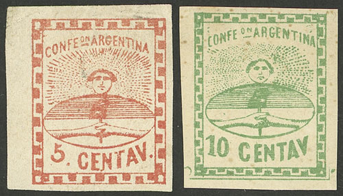 Lot 11 - Argentina confederation -  Guillermo Jalil - Philatino Auction # 2049 ARGENTINA: