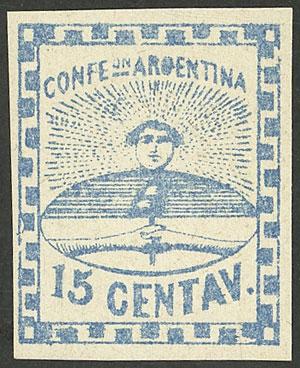 Lot 14 - Argentina confederation -  Guillermo Jalil - Philatino Auction # 2049 ARGENTINA: