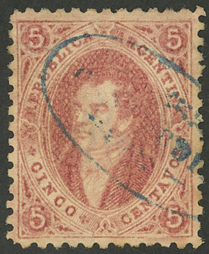 Lot 22 - Argentina rivadavias -  Guillermo Jalil - Philatino Auction # 2049 ARGENTINA: