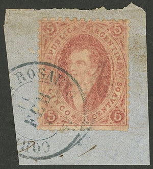 Lot 23 - Argentina rivadavias -  Guillermo Jalil - Philatino Auction # 2049 ARGENTINA: