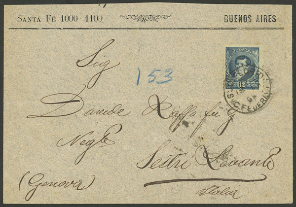 Lot 879 - Argentina postal history -  Guillermo Jalil - Philatino Auction # 2049 ARGENTINA:
