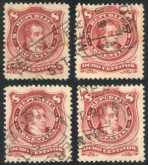 Lot 85 - Argentina general issues -  Guillermo Jalil - Philatino Auction # 2049 ARGENTINA: