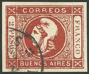Lot 9 - Argentina cabecitas -  Guillermo Jalil - Philatino Auction # 2050 ARGENTINA: Special December auction