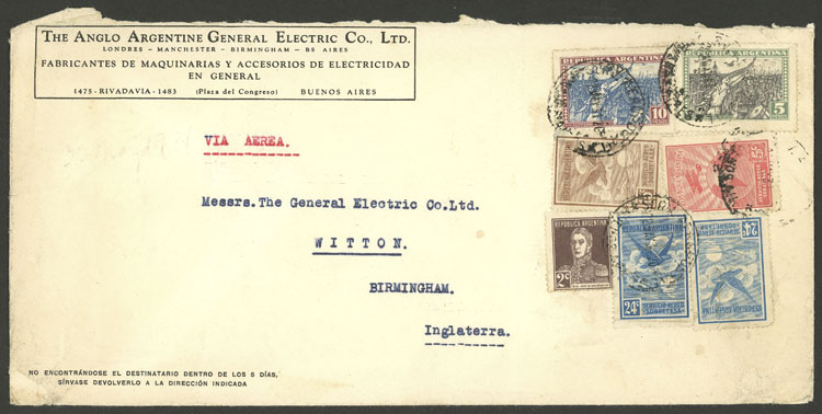 Lot 236 - Argentina postal history -  Guillermo Jalil - Philatino Auction # 2050 ARGENTINA: Special December auction