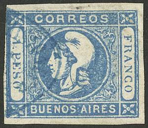 Lot 7 - Argentina cabecitas -  Guillermo Jalil - Philatino Auction # 2050 ARGENTINA: Special December auction