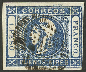Lot 5 - Argentina cabecitas -  Guillermo Jalil - Philatino Auction # 2050 ARGENTINA: Special December auction
