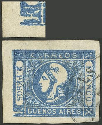 Lot 12 - Argentina cabecitas -  Guillermo Jalil - Philatino Auction # 2050 ARGENTINA: Special December auction