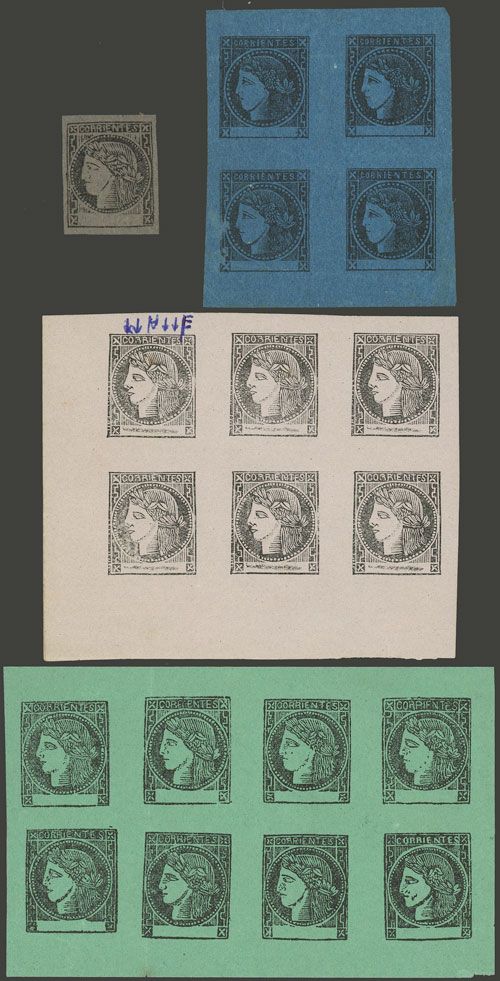 Lot 3 - Argentina corrientes -  Guillermo Jalil - Philatino Auction # 2102 ARGENTINA: Special January auction