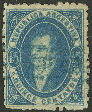 Lot 21 - Argentina rivadavias -  Guillermo Jalil - Philatino Auction # 2102 ARGENTINA: Special January auction