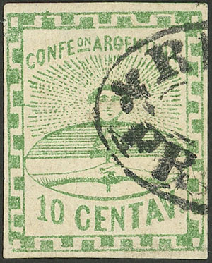 Lot 6 - Argentina confederation -  Guillermo Jalil - Philatino Auction # 2102 ARGENTINA: Special January auction