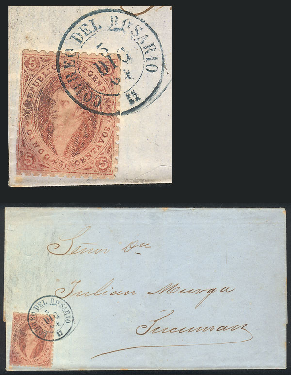 Lot 14 - Argentina rivadavias -  Guillermo Jalil - Philatino Auction # 2102 ARGENTINA: Special January auction