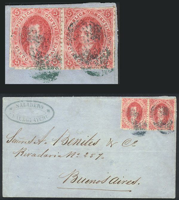 Lot 22 - Argentina rivadavias -  Guillermo Jalil - Philatino Auction # 2102 ARGENTINA: Special January auction
