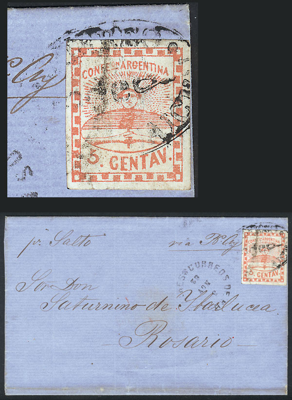 Lot 5 - Argentina confederation -  Guillermo Jalil - Philatino Auction # 2102 ARGENTINA: Special January auction