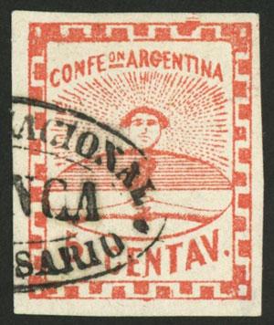 Lot 38 - Argentina confederation -  Guillermo Jalil - Philatino Auction # 2103 ARGENTINA: