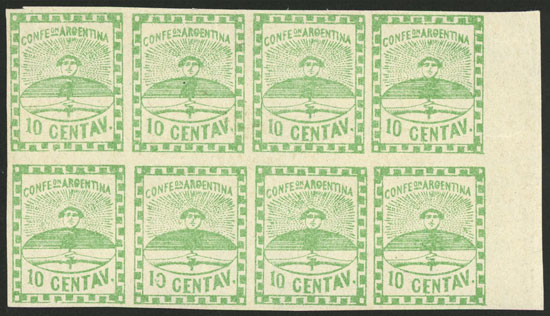 Lot 39 - Argentina confederation -  Guillermo Jalil - Philatino Auction # 2103 ARGENTINA: