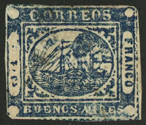 Lot 12 - Argentina barquitos -  Guillermo Jalil - Philatino Auction # 2103 ARGENTINA: