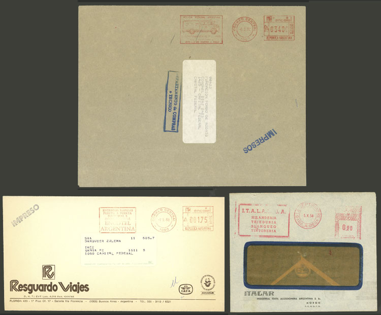 Lot 1979 - Argentina postal history -  Guillermo Jalil - Philatino Auction # 2103 ARGENTINA: