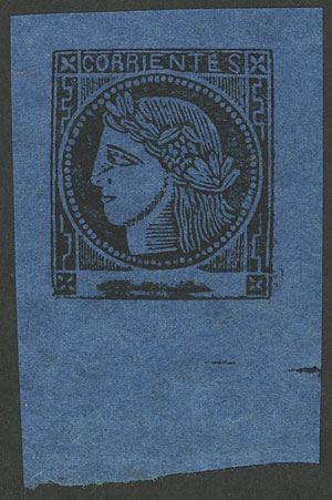 Lot 23 - Argentina corrientes -  Guillermo Jalil - Philatino Auction # 2103 ARGENTINA: