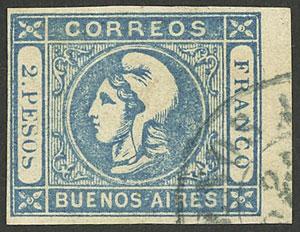 Lot 16 - Argentina cabecitas -  Guillermo Jalil - Philatino Auction # 2103 ARGENTINA: