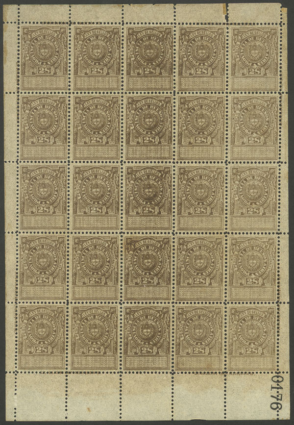 Lot 2050 - Argentina revenue stamps -  Guillermo Jalil - Philatino Auction # 2103 ARGENTINA: