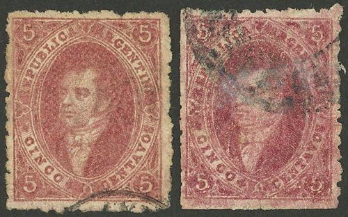 Lot 86 - Argentina rivadavias -  Guillermo Jalil - Philatino Auction # 2103 ARGENTINA:
