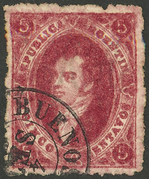 Lot 98 - Argentina rivadavias -  Guillermo Jalil - Philatino Auction # 2103 ARGENTINA: