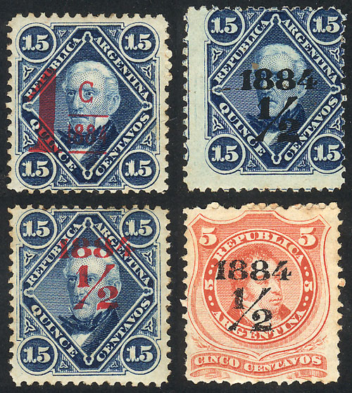 Lot 180 - Argentina general issues -  Guillermo Jalil - Philatino Auction # 2103 ARGENTINA: