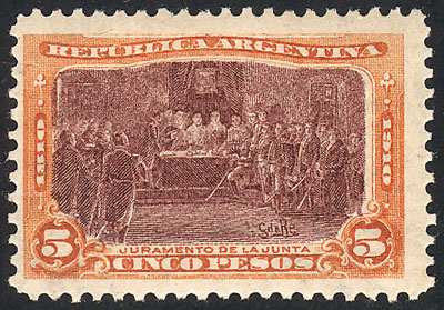 Lot 305 - Argentina general issues -  Guillermo Jalil - Philatino Auction # 2103 ARGENTINA: