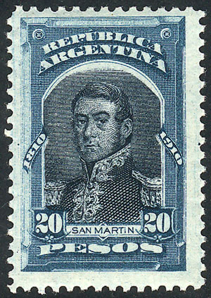Lot 307 - Argentina general issues -  Guillermo Jalil - Philatino Auction # 2103 ARGENTINA: