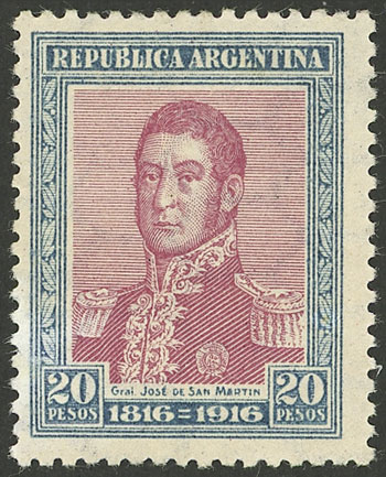Lot 337 - Argentina general issues -  Guillermo Jalil - Philatino Auction # 2103 ARGENTINA:
