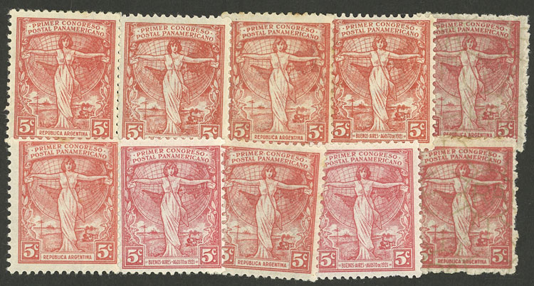 Lot 406 - Argentina general issues -  Guillermo Jalil - Philatino Auction # 2103 ARGENTINA: