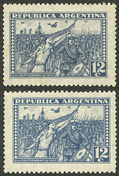 Lot 486 - Argentina general issues -  Guillermo Jalil - Philatino Auction # 2103 ARGENTINA: