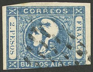 Lot 17 - Argentina cabecitas -  Guillermo Jalil - Philatino Auction # 2103 ARGENTINA: