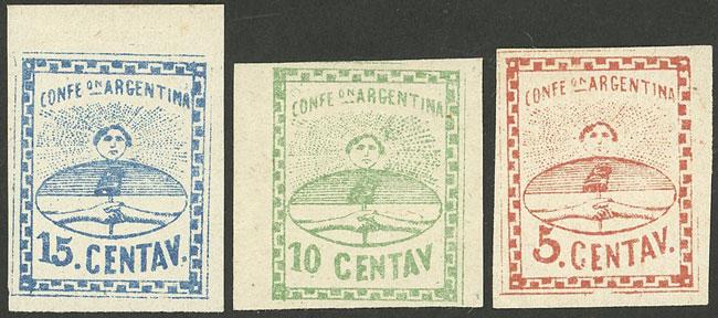 Lot 46 - Argentina confederation -  Guillermo Jalil - Philatino Auction # 2103 ARGENTINA: