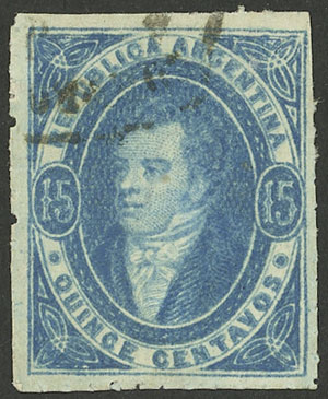 Lot 83 - Argentina rivadavias -  Guillermo Jalil - Philatino Auction # 2103 ARGENTINA: