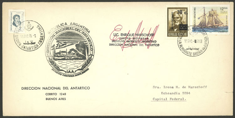 Lot 3 - argentine antarctica postal history -  Guillermo Jalil - Philatino Auction # 2103 ARGENTINA: