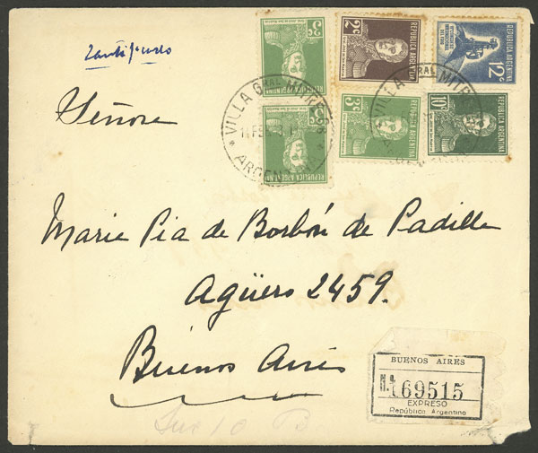 Lot 1931 - Argentina postal history -  Guillermo Jalil - Philatino Auction # 2103 ARGENTINA: