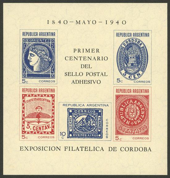 Lot 1472 - Argentina souvenir sheets -  Guillermo Jalil - Philatino Auction # 2103 ARGENTINA: