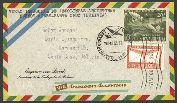 Lot 1971 - Argentina postal history -  Guillermo Jalil - Philatino Auction # 2103 ARGENTINA: